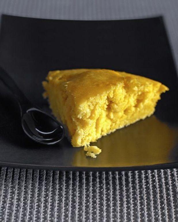 Gâteau poêlé et crème anglaise
