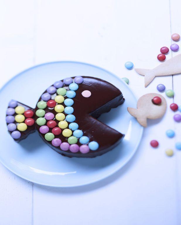 Gâteau poisson au chocolat et bonbons
