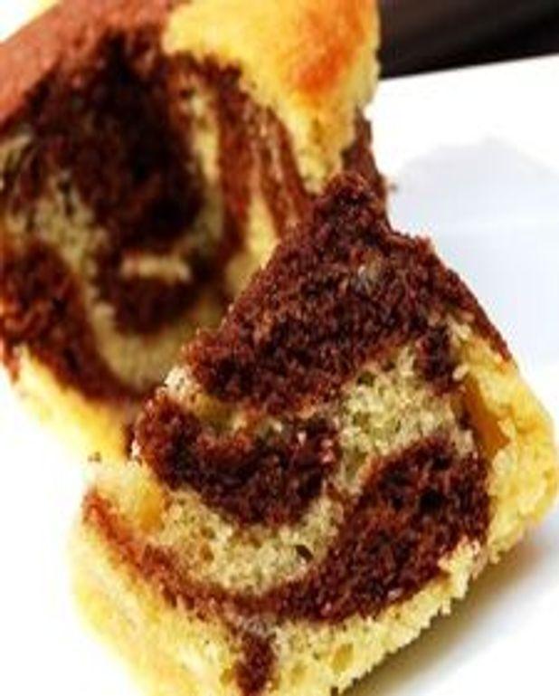 Gâteaux marbrés bananes-chocolat
