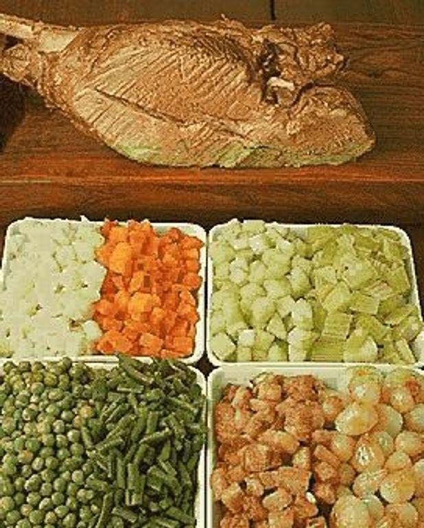 Gigot aux huit légumes