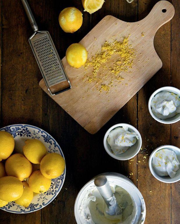 Glace au citron (sans sorbetière)