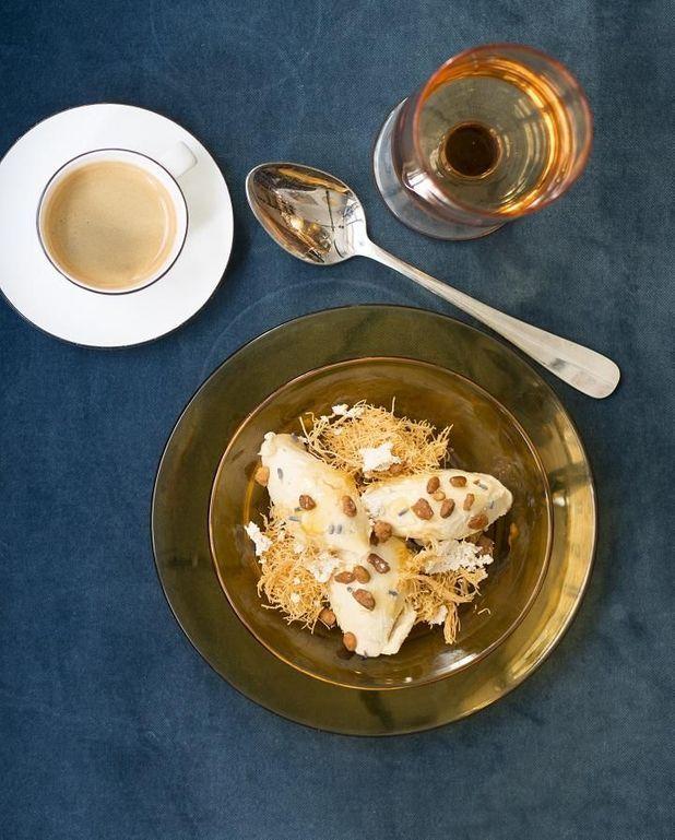Glace au tahini et miel