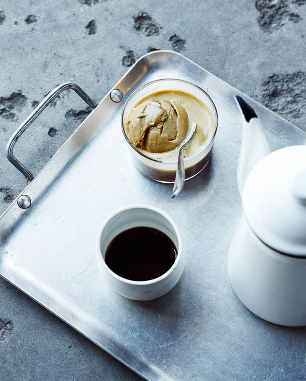 Glace chicorée-café