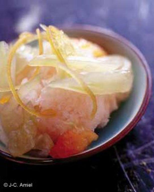 Granités de pomelos