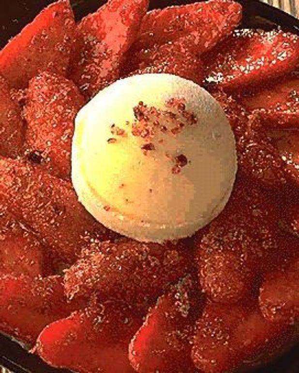 Gratin de fraises en chaud-froid