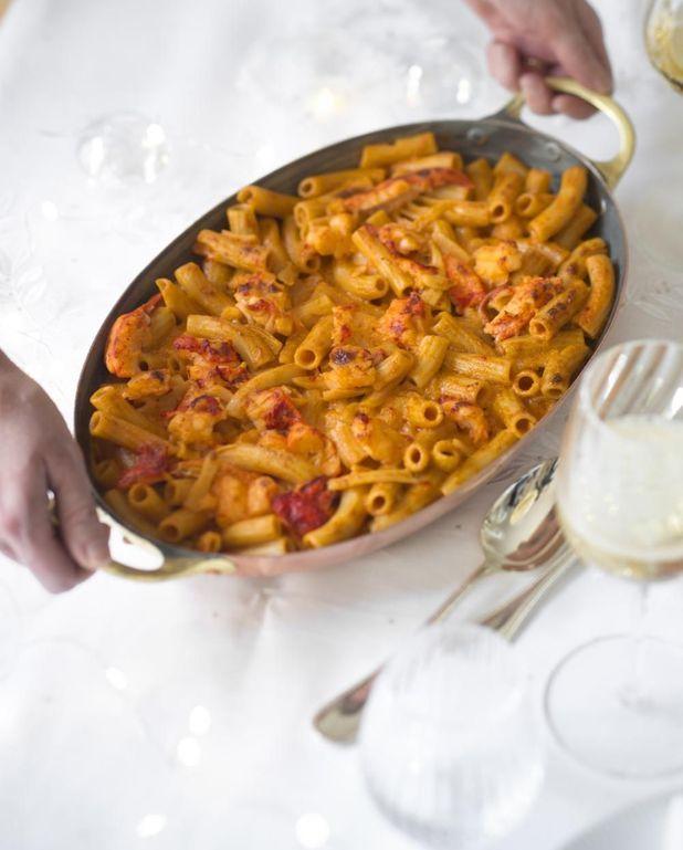 Gratin de macaronis au homard