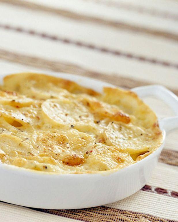 Gratin de pommes de terre aux lardons et au jambon