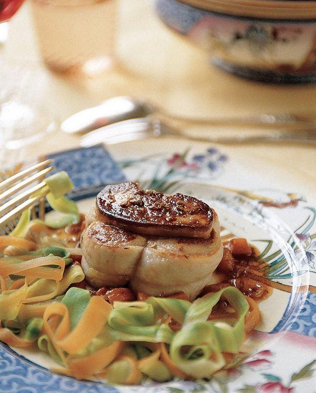 Grenadins de veau au foie gras frais