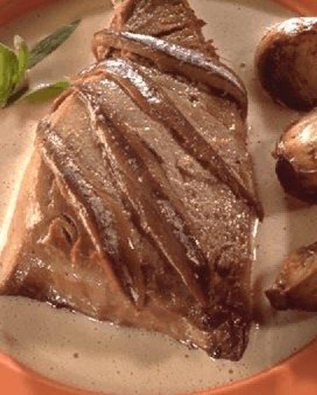 Grillade de thon aux gousses d'ail
