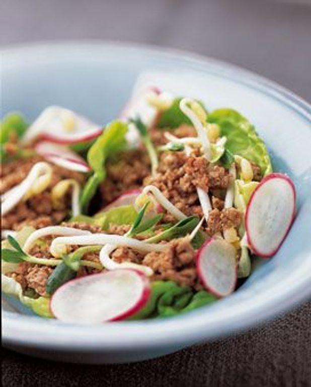 Haché en salade exotique