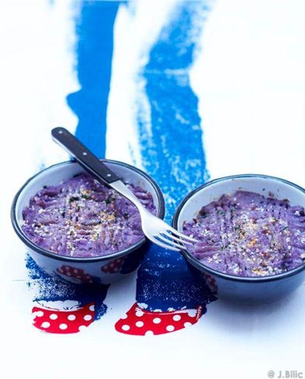 Hachis parmentier d'agneau et purée violette