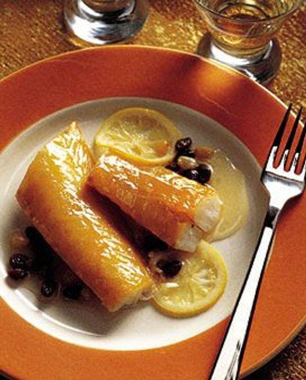 Haddock aux raisins et au miel