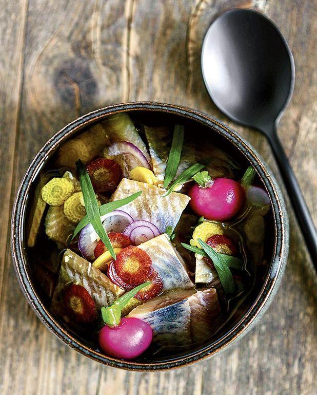 Harengs du potager à l'huile d'olive