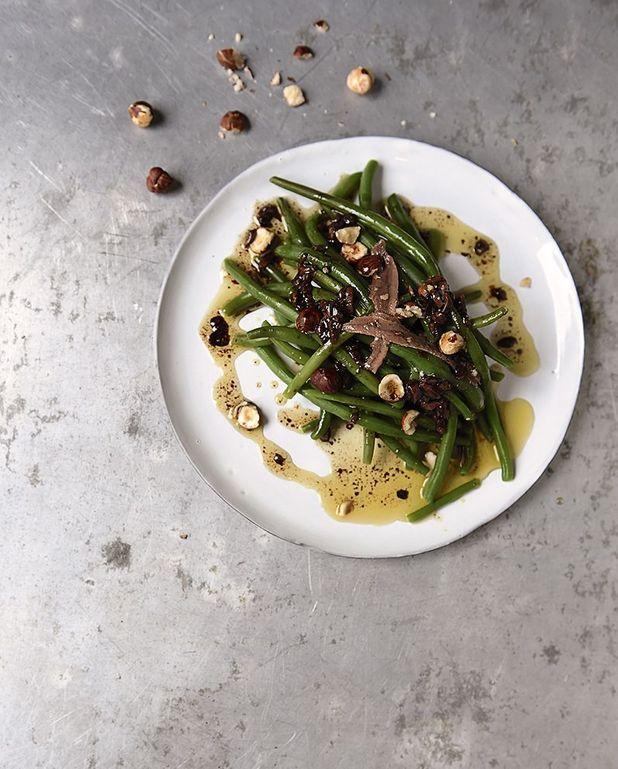 Haricots croquants et anchois