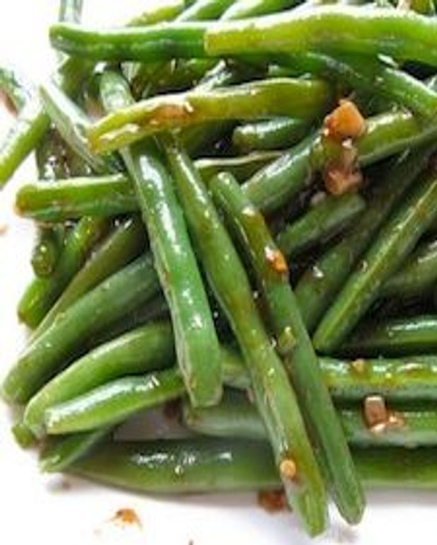 Haricots verts rapides et relevés