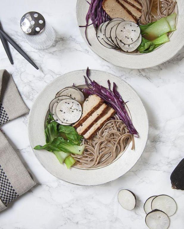 Hot ramen, radis noir, tofu, chou