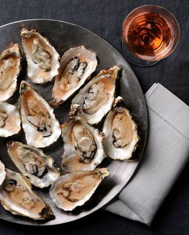 Huîtres en gelée de vinaigre à l'échalote
