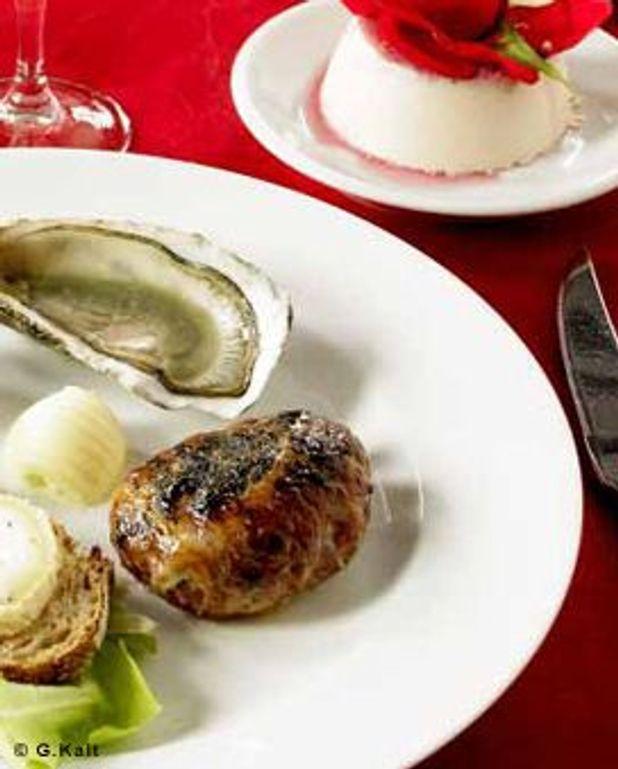 Huîtres et crépinettes