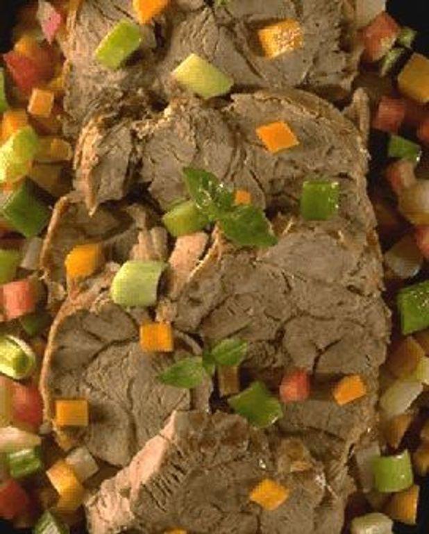 Jarret de veau en minestrone