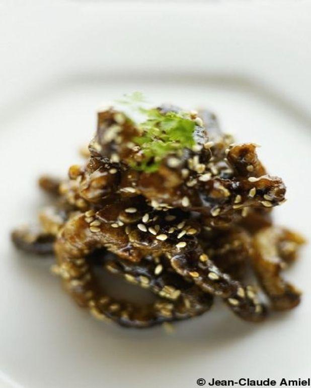 Julienne de champignons croustillants