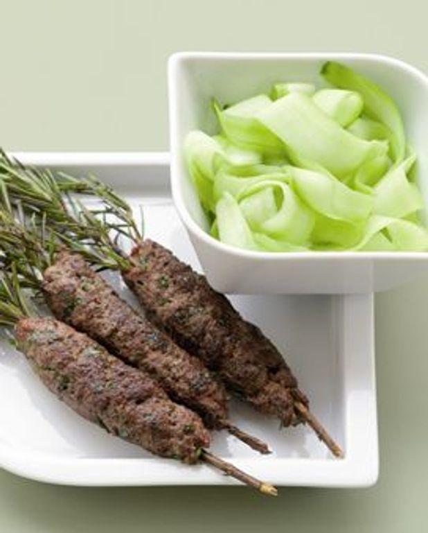 Kebab au trot et tagliatelles de concombre