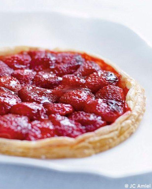 La tarte chaude aux fraises