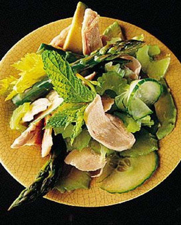 Lapin en salade