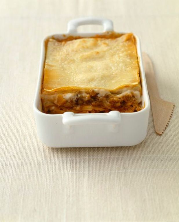 Lasagnes de courgettes et jambon