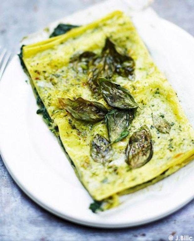 Lasagnes végétariennes ricotta et basilic