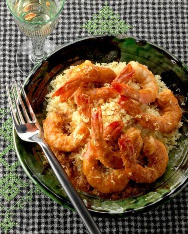 Léger : couscous de crevettes
