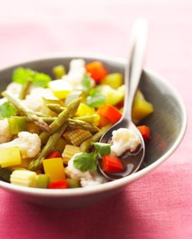 Légumes à la coriandre fraîche