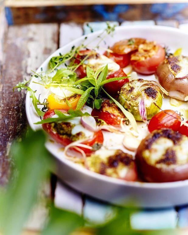 Légumes farcis mozzarella parmesan