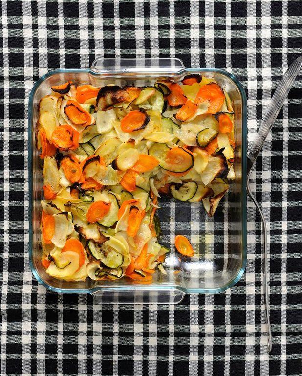 Légumes râpés gratinés