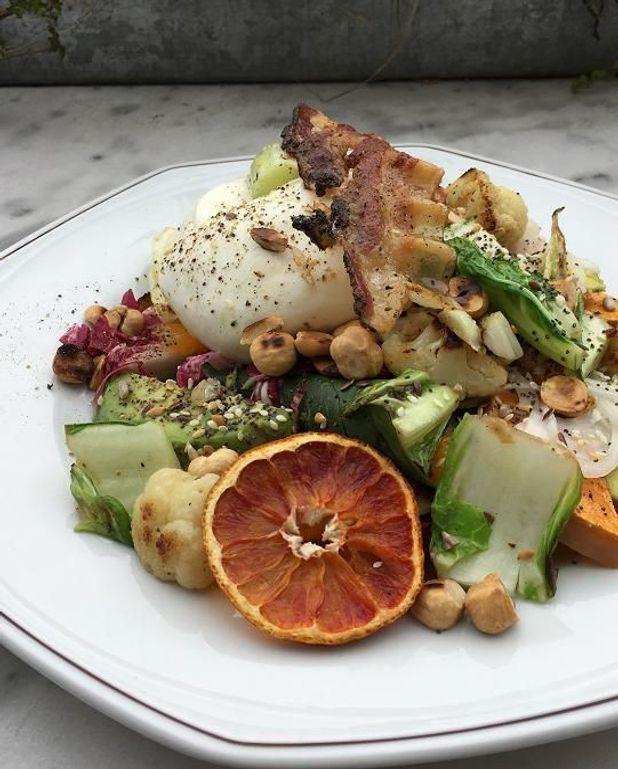 Légumes rôtis et burrata