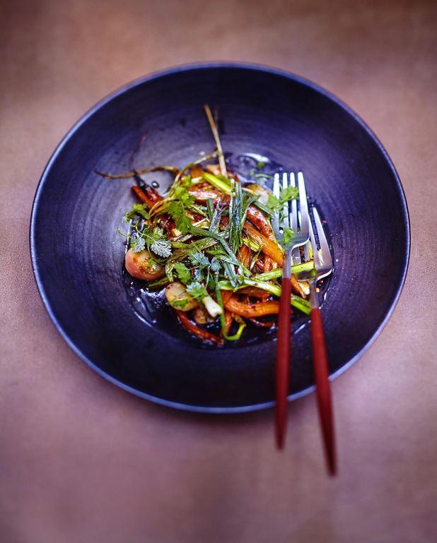 Légumes rôtis et crème balsamique