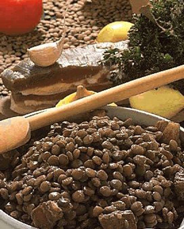 Lentilles au lard