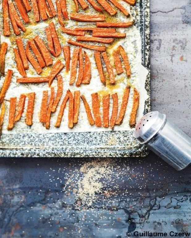 Les frites  de patates douces  au sucre de canne