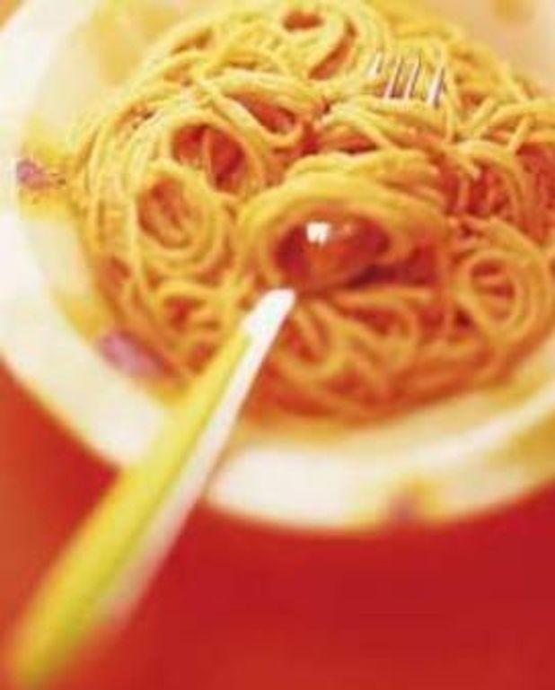 Les spaghettis au pesto sans pesto