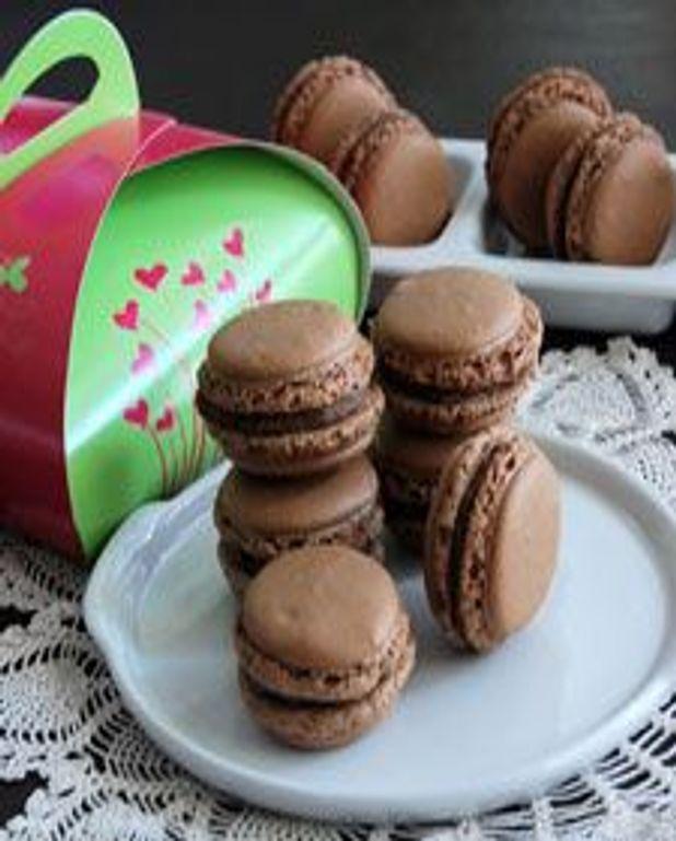 Macarons ganache au chocolat