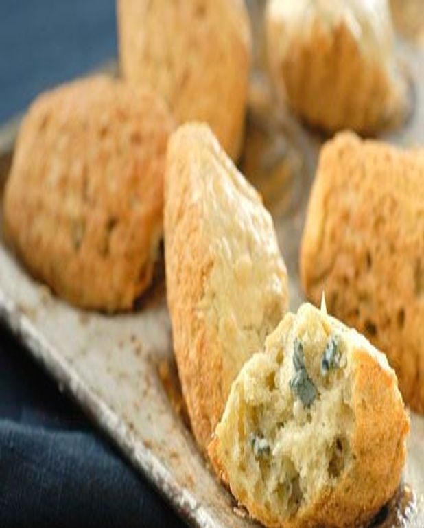 Madeleines au Bleu d'Auvergne