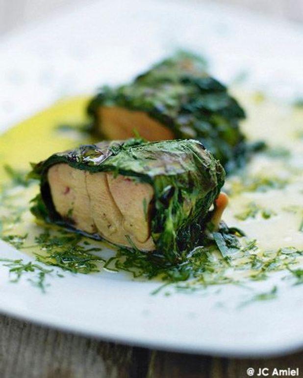 Maki d'épinards au foie gras frais