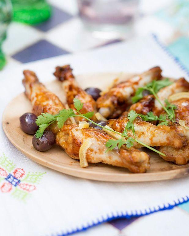 Manchons de poulet olives-citron-coriandre