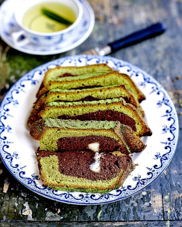 Marbré thé vert et chocolat blanc