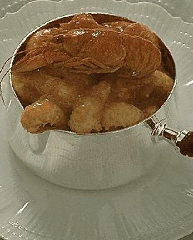 Marmite de queues d'écrevisses