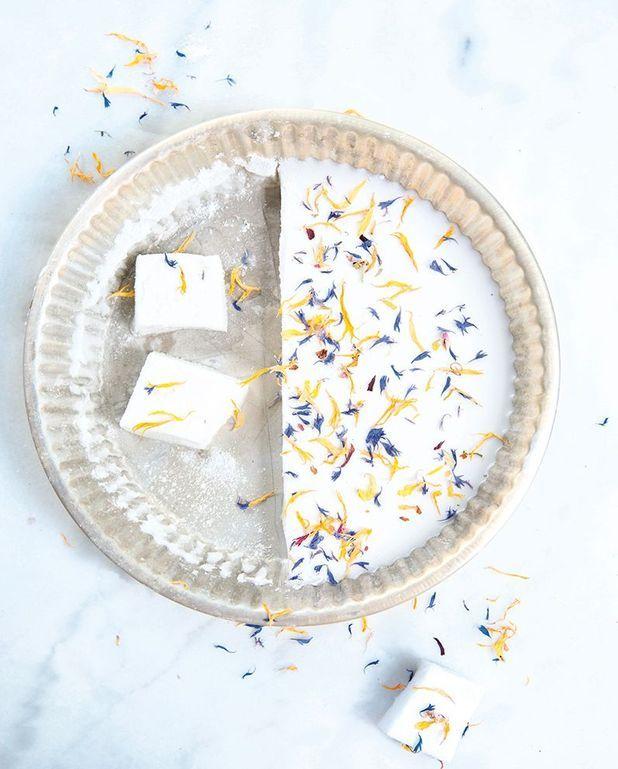 Marshmallows aux fleurs