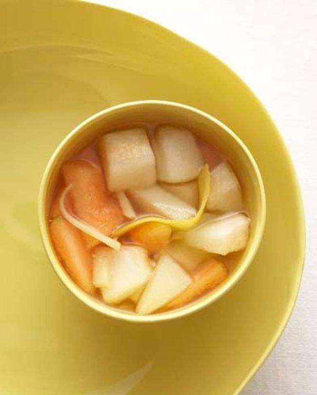 Melons au gingembre