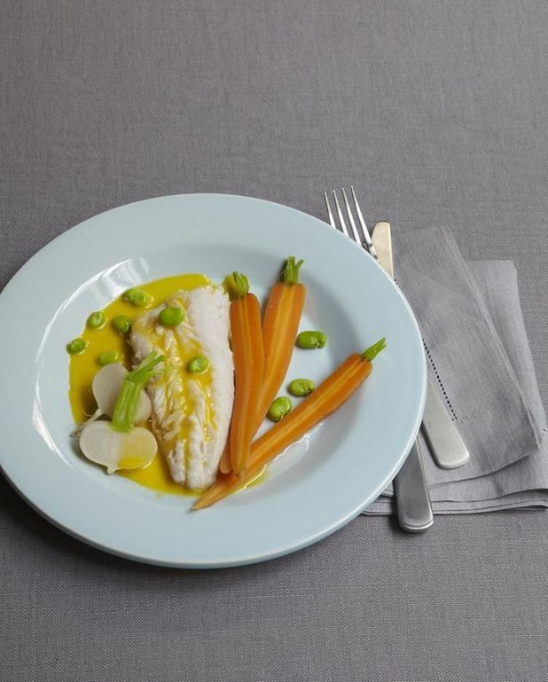 Merlu en aïoli et légumes