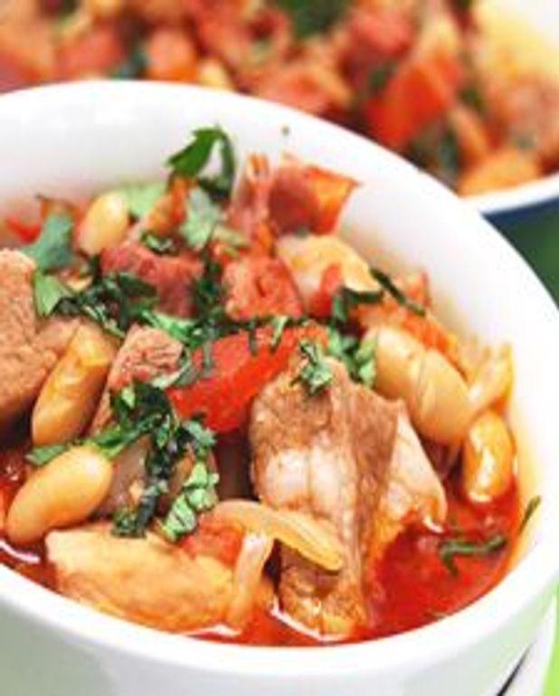 Mijoté de porc aux chorizo et haricots blancs