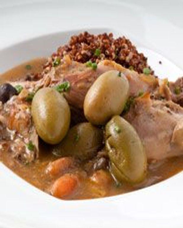 Mijoté de volaille aux olives et cari