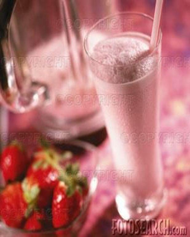 Milk shake à la fraise